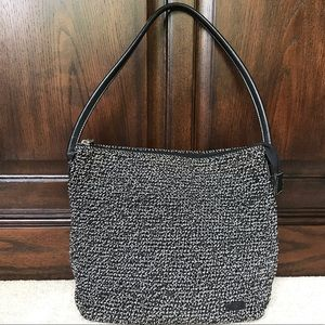 The Sak Elliott Lucca Black and White Shoulder Bag